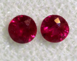 0.23 CTS   NATURAL RUBY FACETED STONE PAIR CG-2706
