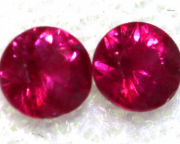 0.34 CTS   NATURAL RUBY FACETED STONE PAIR CG-2707