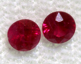 0.35 CTS   NATURAL RUBY FACETED STONE PAIR CG-2709