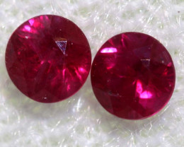 0.31 CTS   NATURAL RUBY FACETED STONE PAIR CG-2716