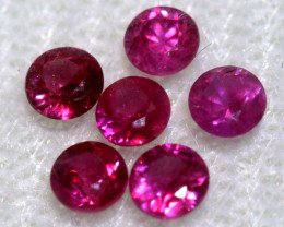 0.76 CTS   NATURAL RUBY FACETED STONE PARCEL CG-2720