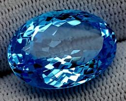 21CT BLUE TOPAZ  BEST QUALITY GEMSTONE IIGC32