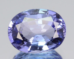 1.20 Cts Natural Purplish Blue Tanzanite Oval Cut Tanzania