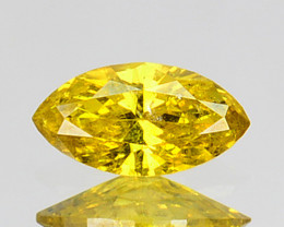 0.10 Cts Natural Golden Yellow Diamond Marquise Cut Africa