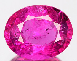 2.14 Cts Natural Rubelite Tourmaline Raspberry Pink Oval Mozambique