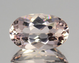 1.27 Cts Natural Morganite Very Light Pink Oval Cut Brazil