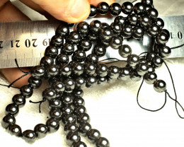 709.0  Tcw. Magnetic 8mm Hematite 30 inches - Soothing