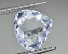 3.08 Crt Natural Aquamarine Faceted Gemstone.( AG 85)