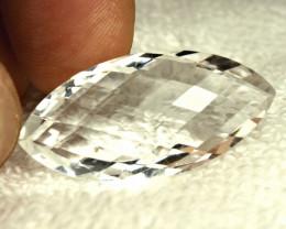35.64 Carat 2 Sided African Quartz Pendant Stone - Gorgeous