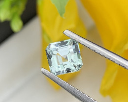 """NO RESERVE""Afghanistan Asscher Cut Mint Green Natural Tourmaline 1.30Carat"
