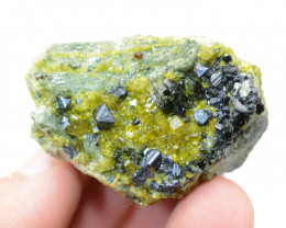 368 Ct Magnitite With Diopside Specimen From Afganistan
