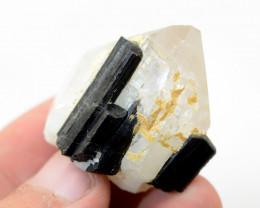 156 CT Black Tourmaline With Quartz Specimen From Pakistan