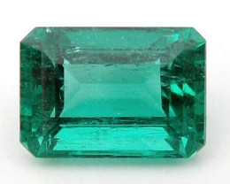 1.44 ct Natural Colombian Emerald Cut Green Gem Loose Gemstone Stone