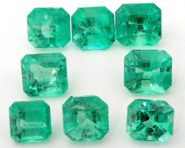 27.72 ct Natural Colombian Emeralds Parcel Cut Loose Gemstone Stone
