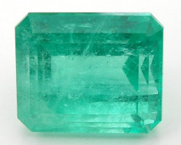 12.40 ct Natural Colombian Emerald Cut Loose Gemstone Green Stone