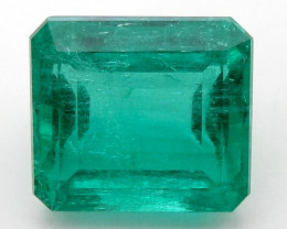 3.38 ct Natural Colombian Emerald Cut Loose Green Gemstone Stone