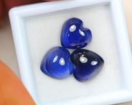 10.11Ct Blue Sapphire Heart Cut Cabochon Lot Z403