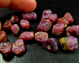 106.95 Ct Unheated ~ Natural Ruby Rough Lot