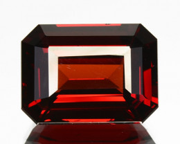 4.96 Cts Natural Coke Red Spessartite Garnet Octagon Cut Namibia Gem (VIDEO