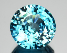 4.50 Cts SPARKLING Natural BColor Blue Zircon Round Cut Cambodia Gem