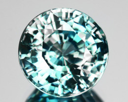 5.77 Cts Dazzling Natural Bi Color Blue Zircon Cambodia Gem