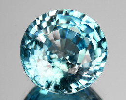 6.00 Cts MIND BLOWING NATURAL BLUE ZIRCON CAMBODIA GEM !!