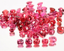 34.13 Cts Amazing Natural Red Spinel Mix Burmese Unheated 67pcs