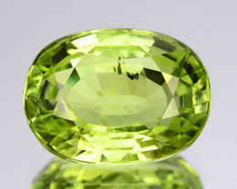2.64 Cts Natural Lime Green Chrysoberyl Oval SriLanka