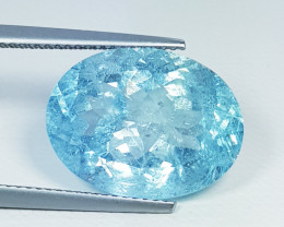 "10.30 ct "" Top Grade Gem"" Amazing Oval Cut Natural Aquamarine"