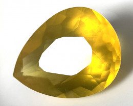 21.46ct Huge MEXICAN OPAL - LEMON GOLD  GLOWING STONE NR