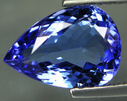 1.24 ct Gorgeous Top Color IF Natural Tanzanite Certified