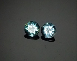 .22ct  3mm Apatite Pair