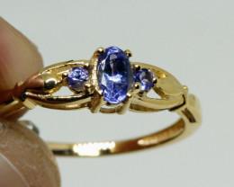 Fantastic $975 Nat 0.69 cts Tanzanite Ring 10k solid YG