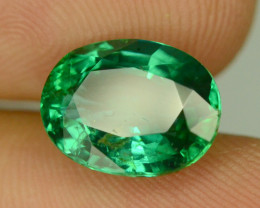 CERTIFIED 3.02 CT NATURAL GREEN  EMERALD