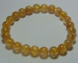 Beautiful  citrine beads cabs Bracelet