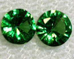 0.61 -CTS TSAVORITE GARNET FACETED PAIR  PG-2730