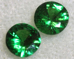 0.50 -CTS TSAVORITE GARNET FACETED PAIR PG-2731