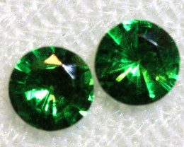 0.58 -CTS TSAVORITE GARNET FACETED PAIR  PG-2733