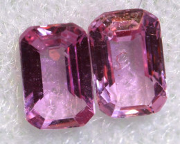 0.62 CTS-  PINK SAPPHIRES FACETED PAIR PG-2749