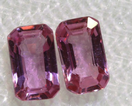 0.77 CTS-  PINK SAPPHIRES FACETED PAIR PG-2751