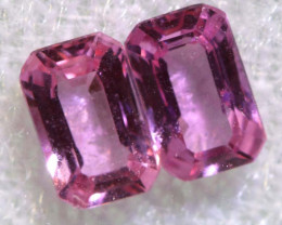 0.77 CTS-  PINK SAPPHIRES FACETED PAIR PG-2761