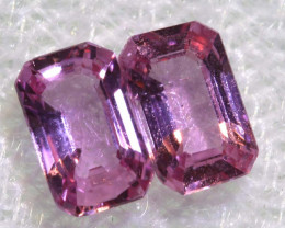0.58 CTS-  PINK SAPPHIRES FACETED PAIR PG-2762