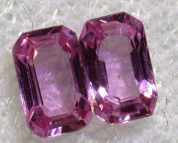 0.55 CTS-  PINK SAPPHIRES FACETED PAIR PG-2764