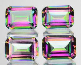 ~RAINBOW~ 4.74 Cts Natural Mystic Topaz 7x5m Emerald Cut 5Pcs Brazil