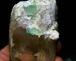Amazing Tourmaline with faceted grade Quartz crystal 1080Cts-Pak