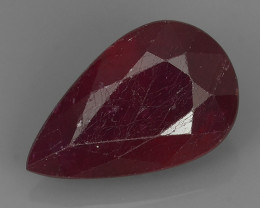 7.00 CTS Captivating! PEAR Facet Top Blood Red Natural Ruby Madagascar