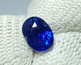 CERTIFIED 1.08 CTS NATURAL STUNNING ROYAL  BLUE SAPPHIRE FROM CEYLON