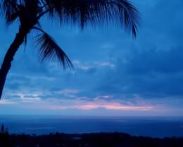 Sunset during hurricane season in Hawaii.