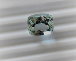 Aquamarine Gemstone with dazzling reflective facets