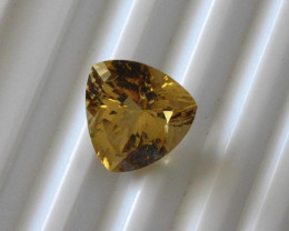 Tourmaline  Yellow Trillion cut Gemstone